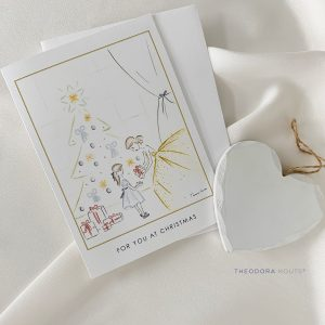 For You at Christmas greeting card by Theodora Kouts
